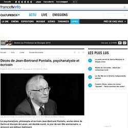 Décès de Jean-Bertrand Pontalis, psychanalyste et écrivain