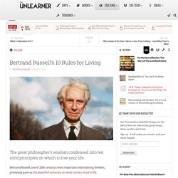 Bertrand Russell's 10 Rules for Living