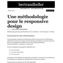 Une méthodologie pour le responsive design