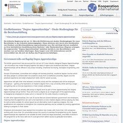 """Kooperation-International: Großbritannien: """"Degree Apprenticeships"""" - Duale Studiengänge für die Berufsausbildung"""