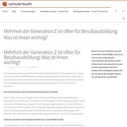 Mehrheit der Generation Z ist offen für Berufsausbildung: Was ist ihnen wichtig? - Universum Deutschland