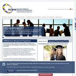 ECBM - Berufsbegleitendes Business Management Studium auf Englisch