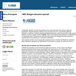 I BES: Bisogni educativi speciali