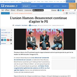 Politique : L'union Hamon-Besancenot continue d'agiter le PS