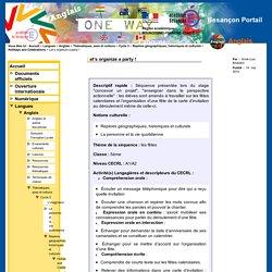 Besançon Portail Langues - Let's organize a party !