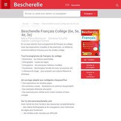 Bescherelle Français Collège (6e, 5e, 4e, 3e)