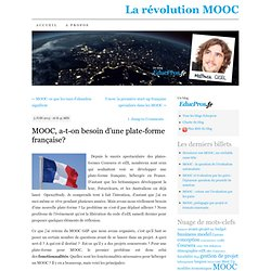 MOOC, a-t-on besoin d'une plate-forme nationale?