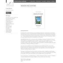 BESOIN DE NATURE — Éditions Hesse