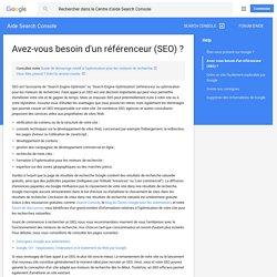 Optimisation des moteurs de recherche (SEO)