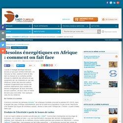 Besoins énergétiques en Afrique : comment on fait face