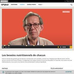 Les besoins nutritionnels de chacun - Corpus - réseau Canopé