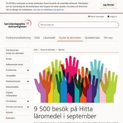 9 500 besök på Hitta läromedel i september