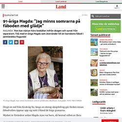 Magda Ajax besöker fäboden Backbuan i Ragunda