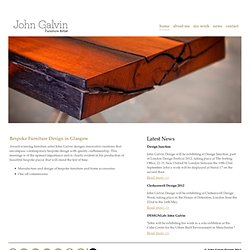Bespoke Furniture and Kitchen Design, Glasgow, Scotland | John Galvin Furniture Design. » John Galvin Design