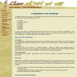 L'Espoir - Centre Equestre de Bessancourt - Val d'oise (95) - L'équitation et le handicap