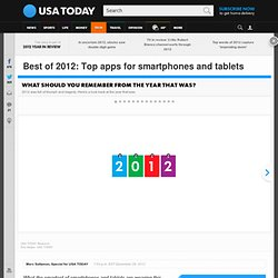 Best of 2012: Top apps for smartphones and tablets