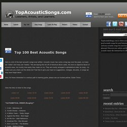Top 100 Best Acoustic Songs Ever -The Greatest of All Time | Acoustic Guitar... - StumbleUpon