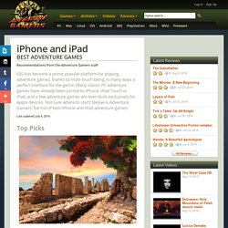Best Adventure Games - iPhone and iPad