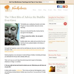 The 3 Best Bits of Advice the Buddha Ever Gave - Mrs. Mindfulness