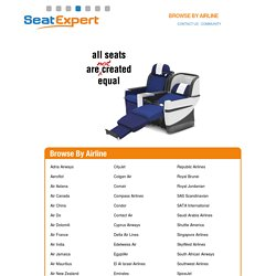 Best Airline Seats - SeatExpert
