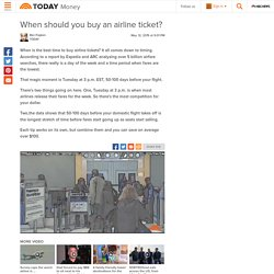 Best time to buy airline tickets?