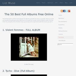 The 50 Best Full Albums Free Online - Listmuse.com