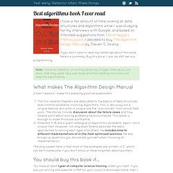 Best algorithms book I ever read
