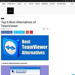 Top 6 Best Alternatives of TeamViewer