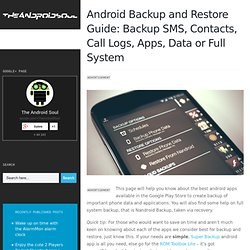Best Android Apps for Backup and Restore