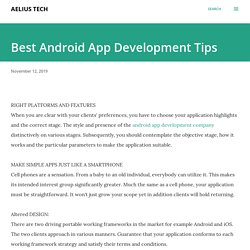 Best Android App Development Tips