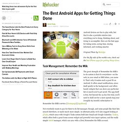 The Best Android Apps for Getting Things Done