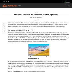 The best Android TVs — what are the options? - Poorvika Blog