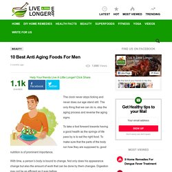 10 Best Anti Aging Foods For Men