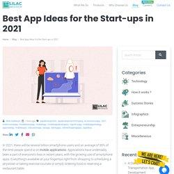 Best App Ideas for the Start-ups in 2021