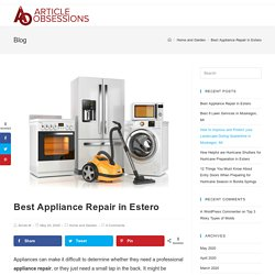 Best Appliance Repair in Estero