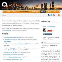 Apprendre la photo, le blog