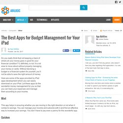 The Best Apps for Budget Management for Your iPad