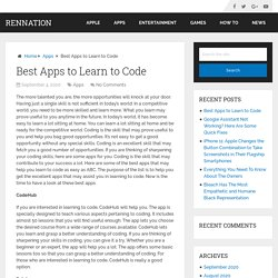 Best Apps to Learn to Code - RenNation