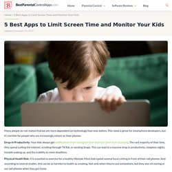 5 Best Apps to Limit Screen Time and Monitor Your Kids