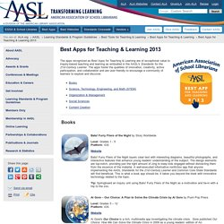 Best Apps for Teaching & Learning 2013