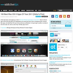 100 Best Mac OS X Apps Of Year 2011 [Editor's Pick]