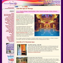 Asheville Spa & Massage Directory: Destination Spas, Day Spas