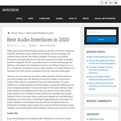Best Audio Interfaces in 2020 - Mindren
