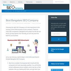 Best Bangalore SEO Company