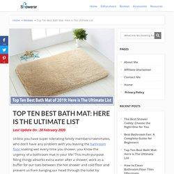Top Ten Best Bath Mat: Here is The Ultimate List - Showerar.com