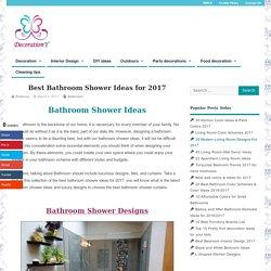 Best Bathroom Shower Ideas for 2017 - Bathroom