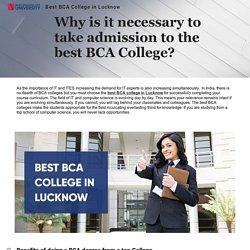 Best BCA College in Lucknow