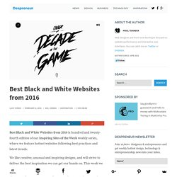 Best Black and White Websites from 2016