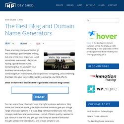 The Best Blog Name Generators - WP Dev Shed