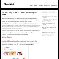 10 Best Blog Sites To Create your Blog For Free
